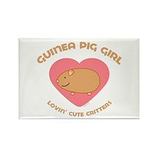 Guinea Pig girl Rectangle Magnet