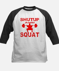 Shut Up And Squat Kids Baseball Jersey