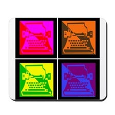 Vivid Pop Art Typewriter Mousepad