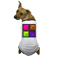 Vivid Pop Art Typewriter Dog T-Shirt