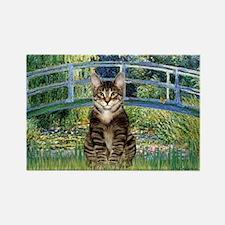 Bridge / Brown tabby cat Rectangle Magnet