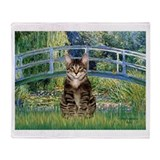 Cat tabby cats Fleece Blankets