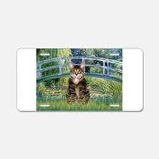 Bridge / Brown tabby cat Aluminum License Plate