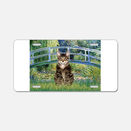 Bridge / Brown tabby cat Aluminum License Plate