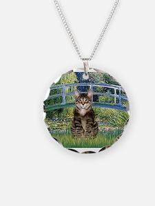 Bridge / Brown tabby cat Necklace