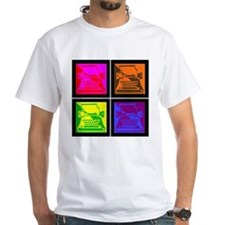 Vivid Pop Art Typewriter Shirt