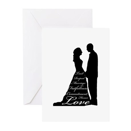 Love Silhouette Greeting Cards (Pk of 20)