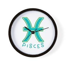 Zodiac Pisces Wall Clock