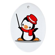 Music Penguin Ornament (Oval)