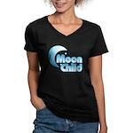 Moonchild Women's V-Neck Dark T-Shirt