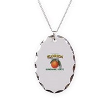 Florida Sunshine State Necklace Oval Charm