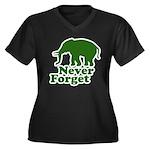 Never forget Women's Plus Size V-Neck Dark T-Shirt