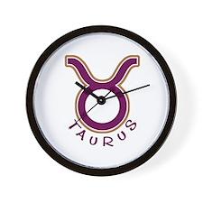 Zodiac Taurus Wall Clock
