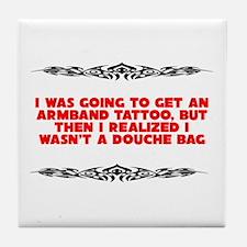 Stupid Tattoo Tile Coaster