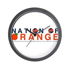 Cute Syracuse orange Wall Clock