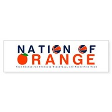 nationoforange1 Bumper Bumper Sticker