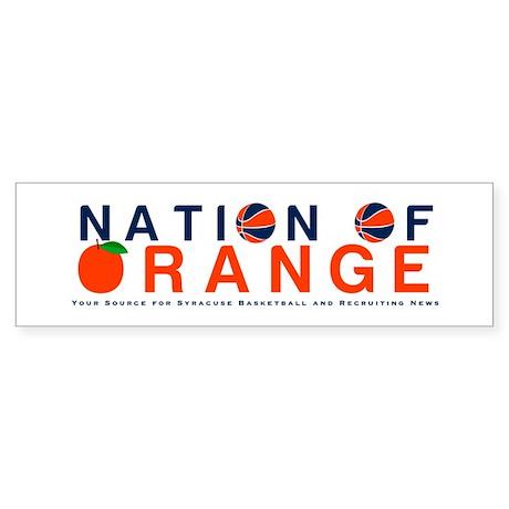 nationoforange1 Bumper Sticker