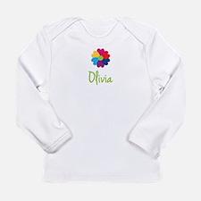 Olivia Valentine Flower Long Sleeve Infant T-Shirt
