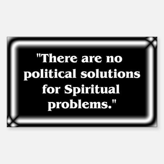 Spiritual Problems - Sticker (Rectangle)