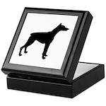 Doberman Pinscher Silhouette Keepsake Box