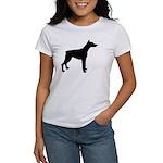 Doberman Pinscher Silhouette Women's T-Shirt