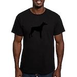 Doberman Pinscher Silhouette Men's Fitted T-Shirt