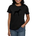 Doberman Pinscher Silhouette Women's Dark T-Shirt