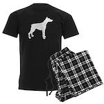 Doberman Pinscher Silhouette Men's Dark Pajamas