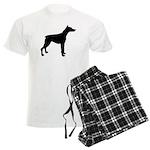 Doberman Pinscher Silhouette Men's Light Pajamas