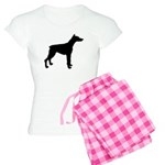Doberman Pinscher Silhouette Women's Light Pajamas