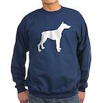 Doberman Pinscher Silhouette Sweatshirt (dark)