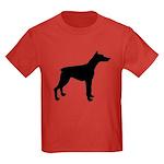 Doberman Pinscher Silhouette Kids Dark T-Shirt