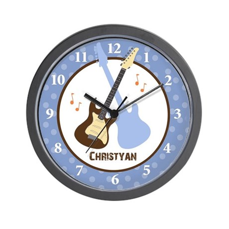 Rock and Roll Guitar Wall Clock - Christyan
