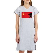 Lenin Soviet Flag Women's Nightshirt