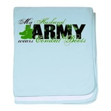Husband Combat Boots - ARMY baby blanket