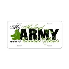 Husband Combat Boots - ARMY Aluminum License Plate