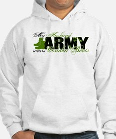 Husband Combat Boots - ARMY Hoodie