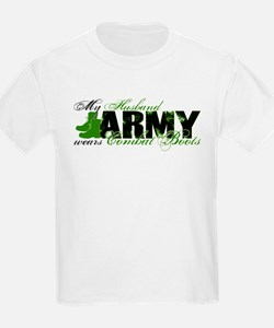 Husband Combat Boots - ARMY T-Shirt
