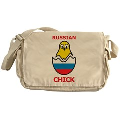 Russian Chick Messenger Bag