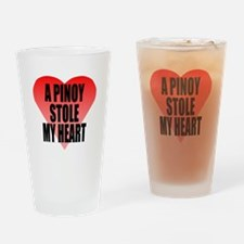 Pinoy Stole My Heart Drinking Glass