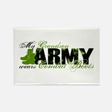 Grandson Combat Boots - ARMY Rectangle Magnet