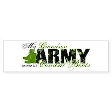 Grandson Combat Boots - ARMY Bumper Bumper Sticker