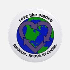 Love the planet Ornament (Round)