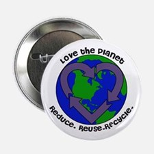 "Love the planet 2.25"" Button"