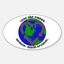 Love the planet Sticker (Oval)