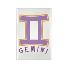 Zodiac Gemini Rectangle Magnet