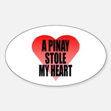 Pinay Stole My Heart Sticker (Oval)