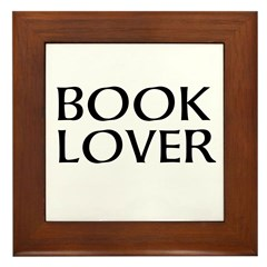Book Lover Framed Tile
