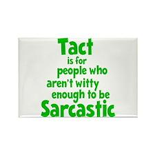 Tact vs Sarcasm Rectangle Magnet
