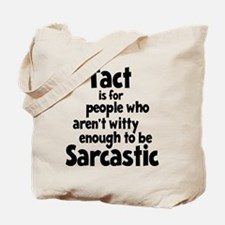 Tact vs Sarcasm Tote Bag (on both sides)
